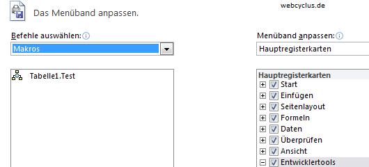 Excel 2010 Button mit Makros verknüpfen