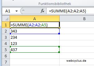 Formeln in Excel 2010 anzeigen