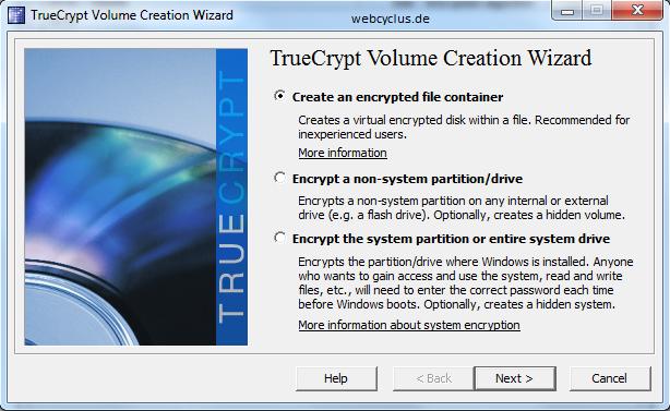 Verschlüsselung mit TrueCrypt