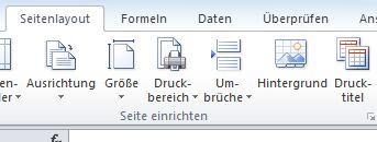 Drucktitel in Excel verwenden